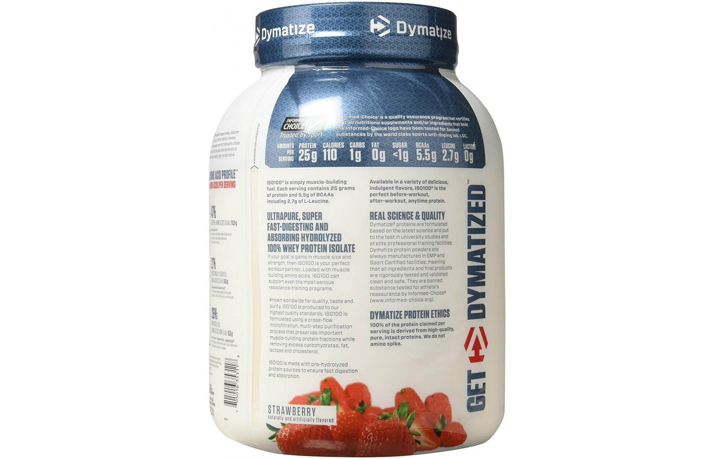 Dymatize ISO 100 Hydrolyzed Reviewed Front Back