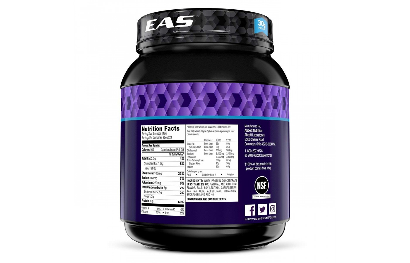 EAS Nutrition Facts