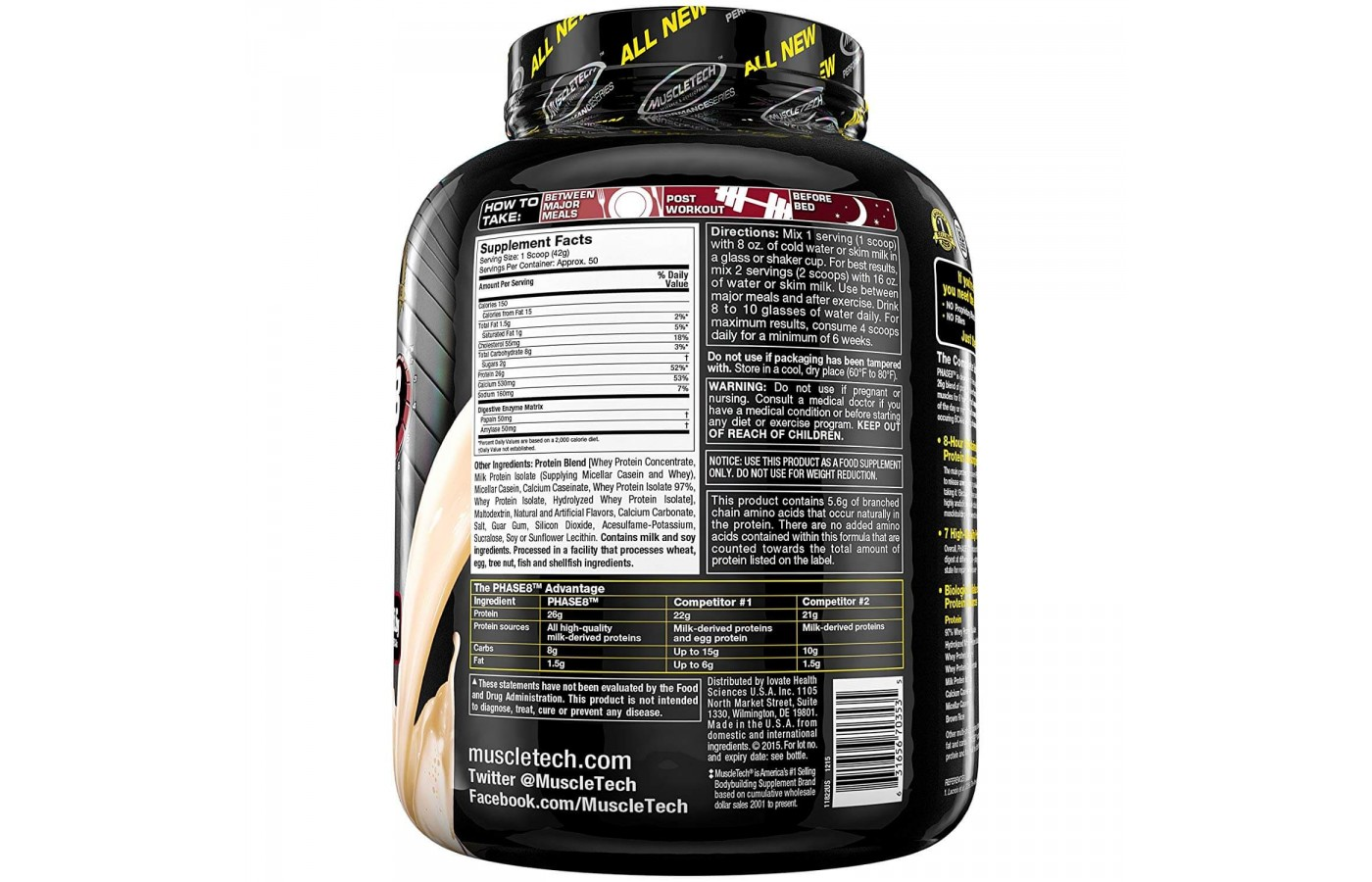 MuscleTech Nutrition Facts
