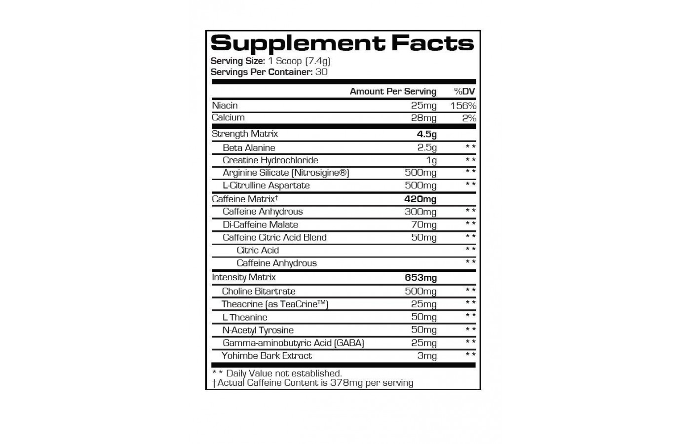 mr hyde supplement facts