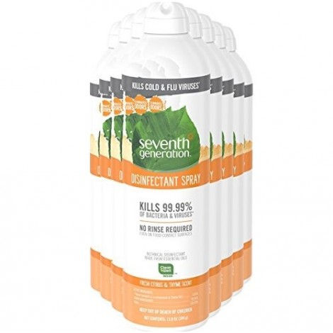 Seventh Generation Fresh Citrus and Thyme disinfectant spray for gym equipment
