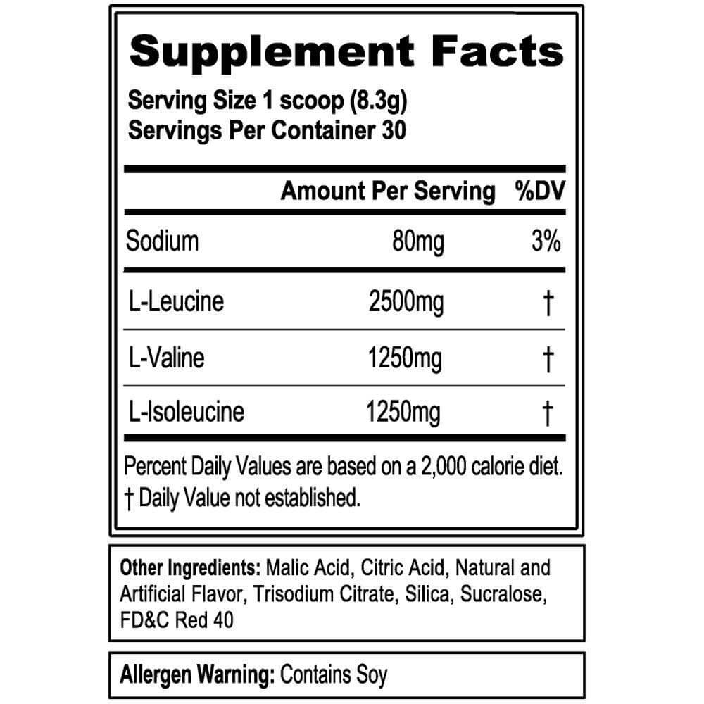 BCAA 5000 Sup Facts