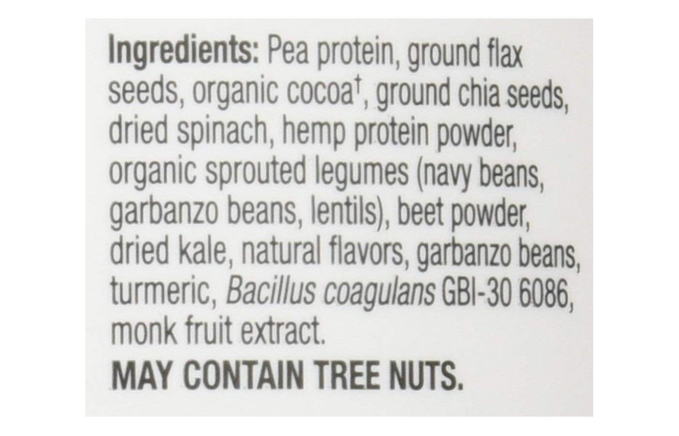 GoLean Ingredient List