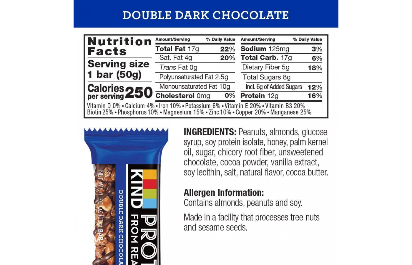 Kind Nutrition Facts