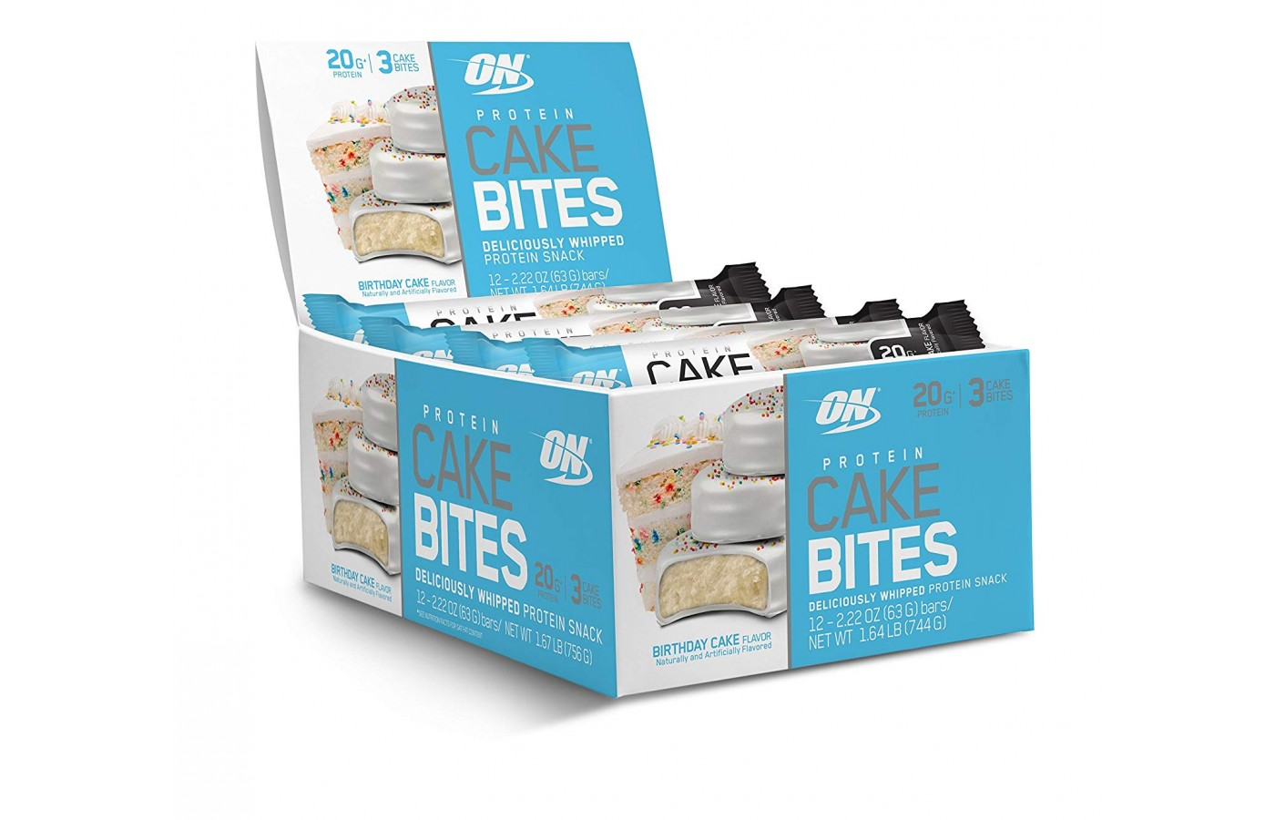 Optimum Nutrition Protein Cake Bites Reviewed On Box