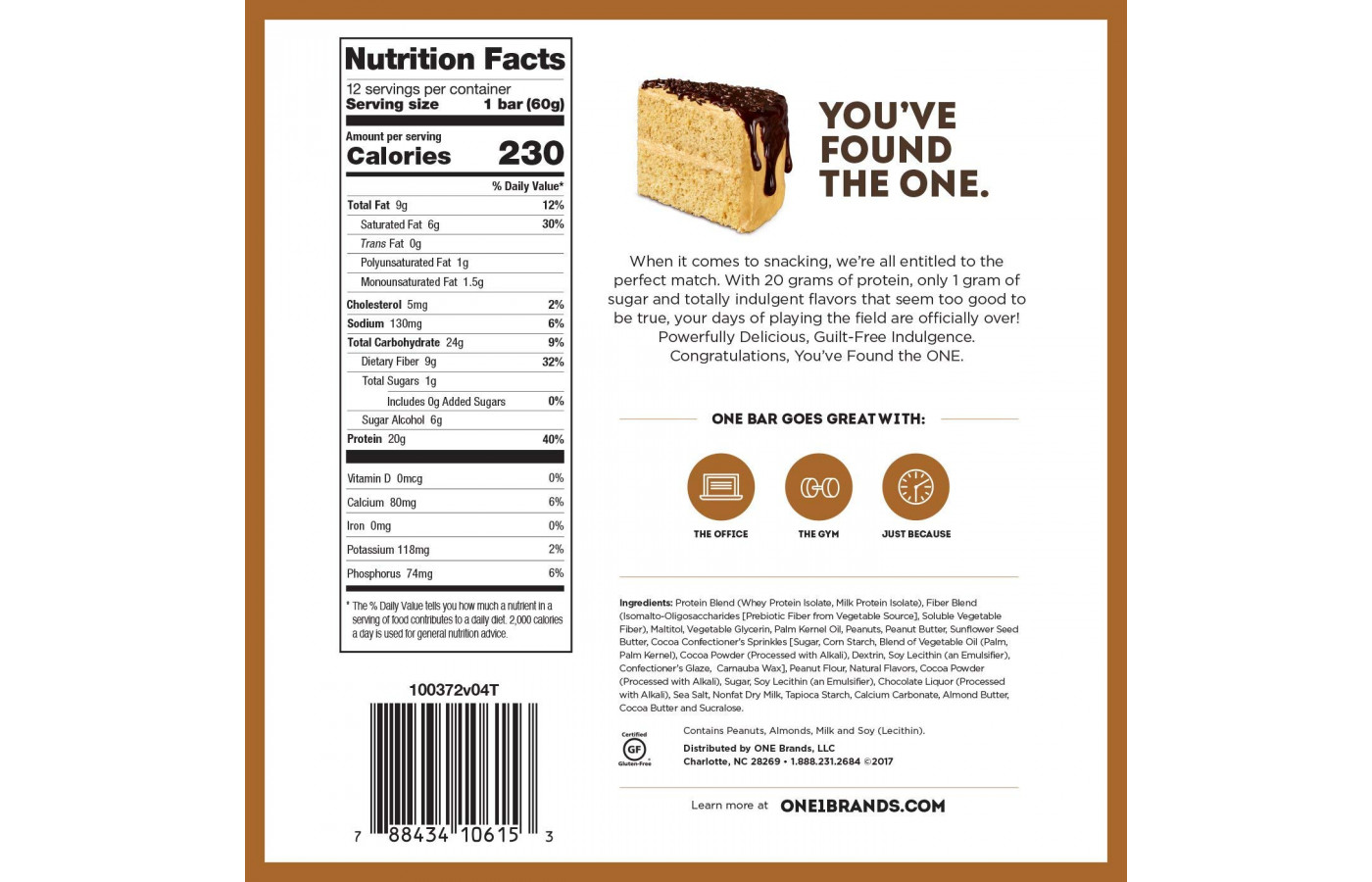 One Nutrition Facts