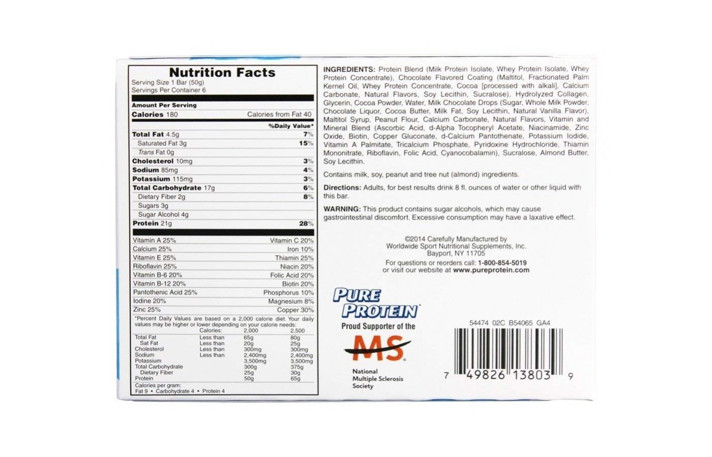Pure Protein Nutrition Facts