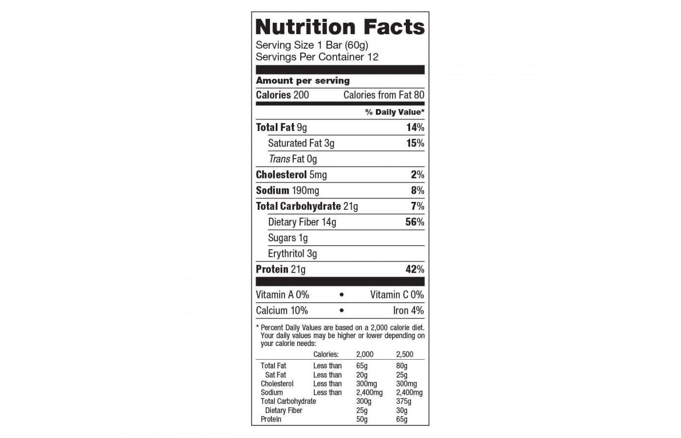Quest Nutrition Facts