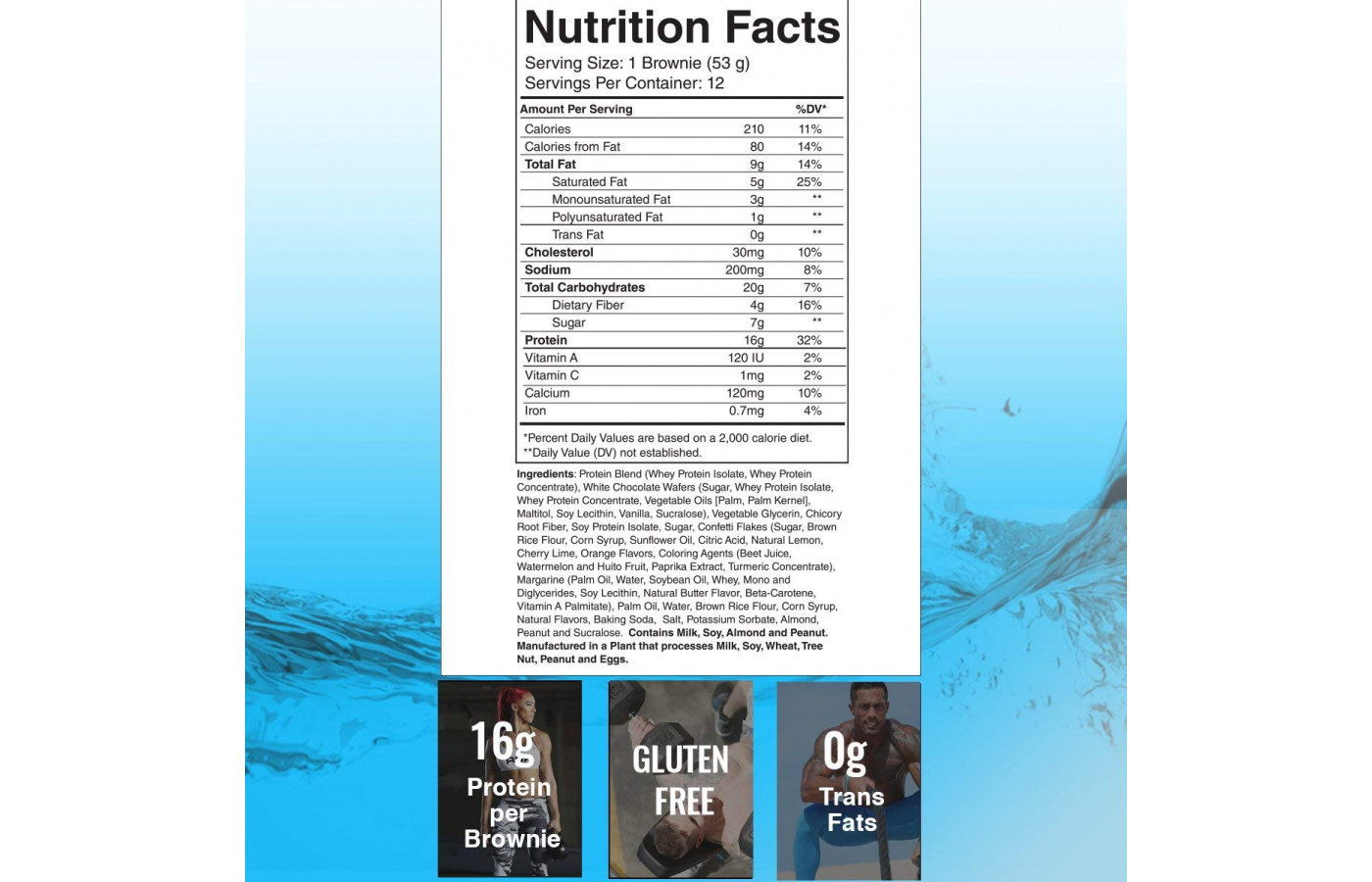 RSP Protein Brownie Bday Cake Nutrition Facts