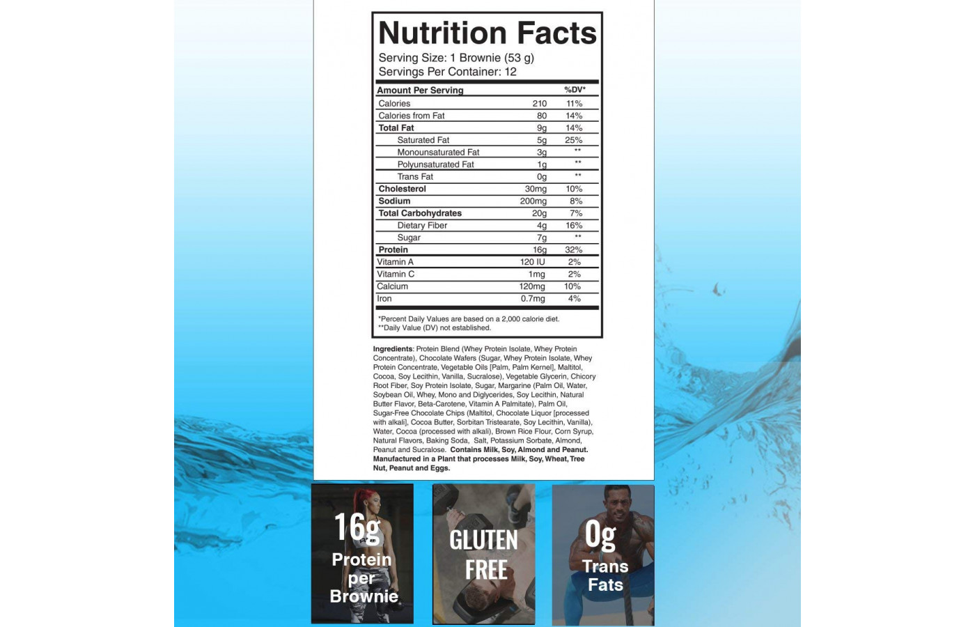 RSP Protein Brownie Nutrition Facts