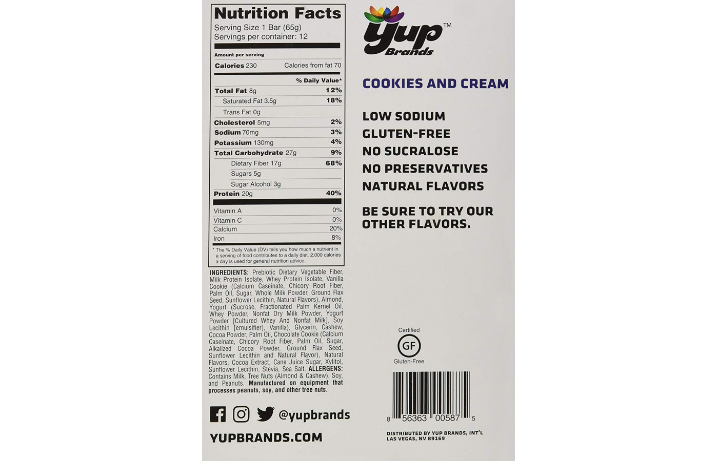 bup nutrition facts