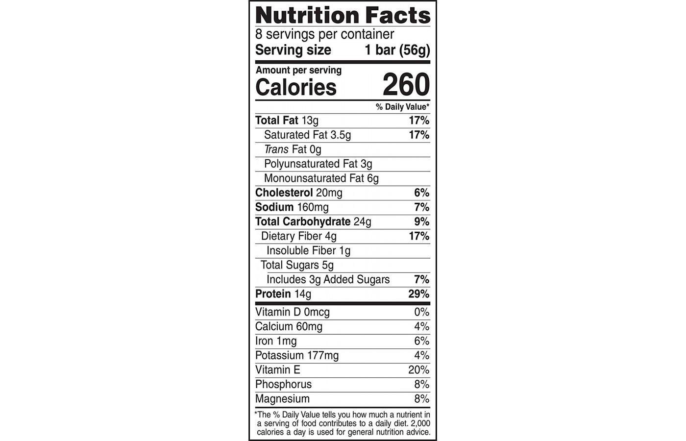 clif nutritions infos