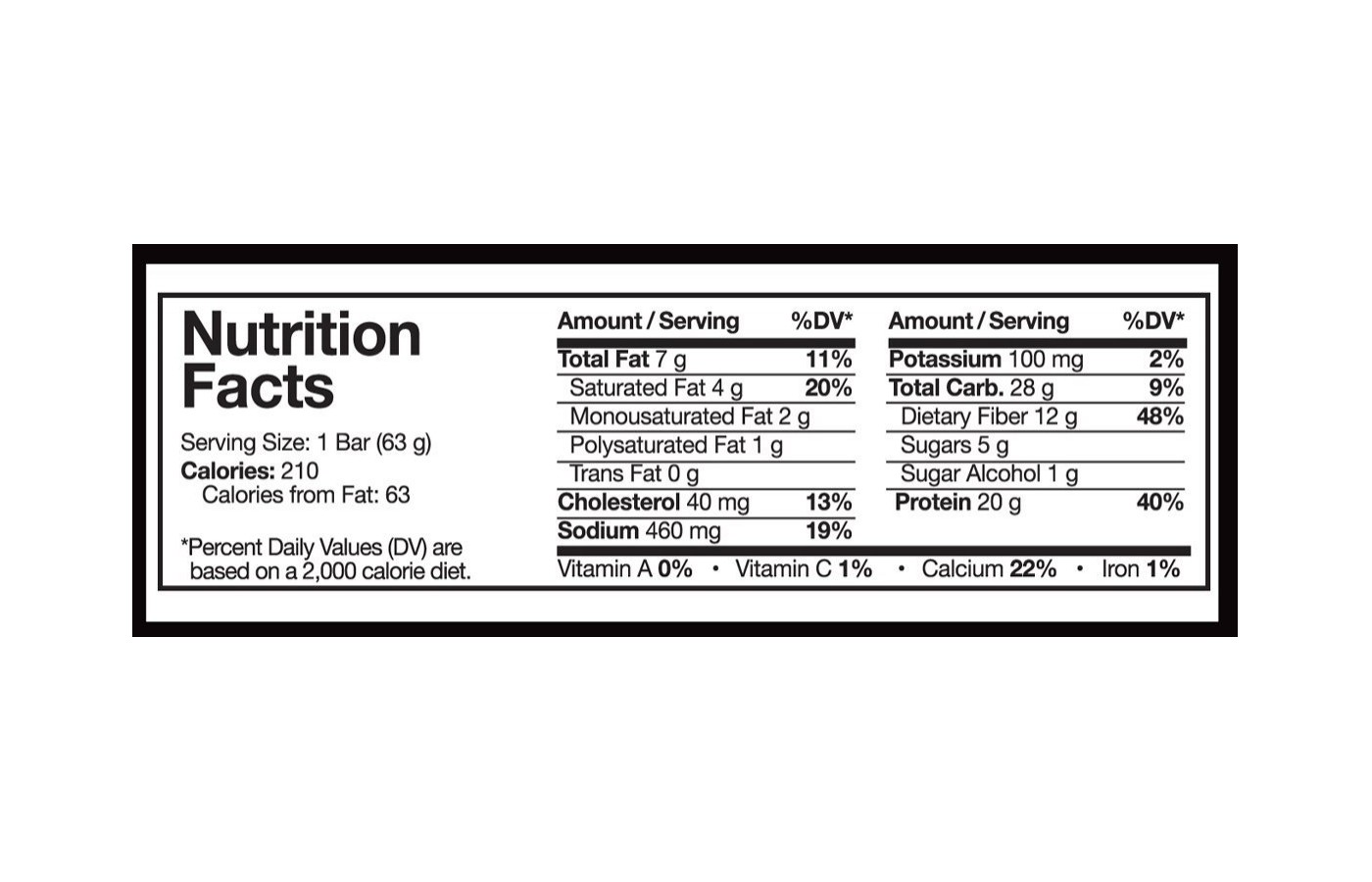 combat crunch nutrition facts