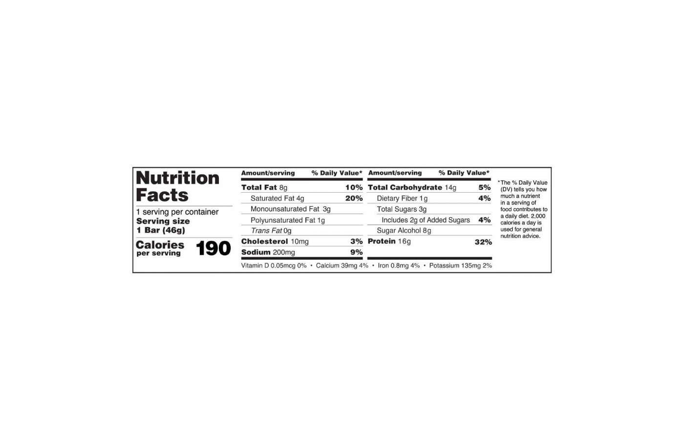 fitcrunch nutrition facts