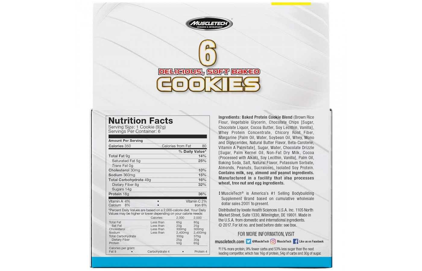 protein cookie nutrition facts