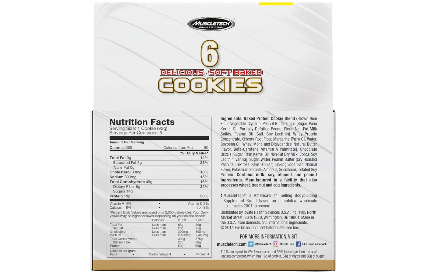 protein cookie pb nutrition facts