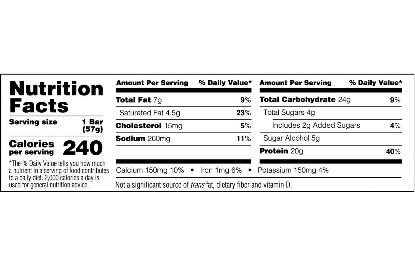 syntha6 nutrition facts