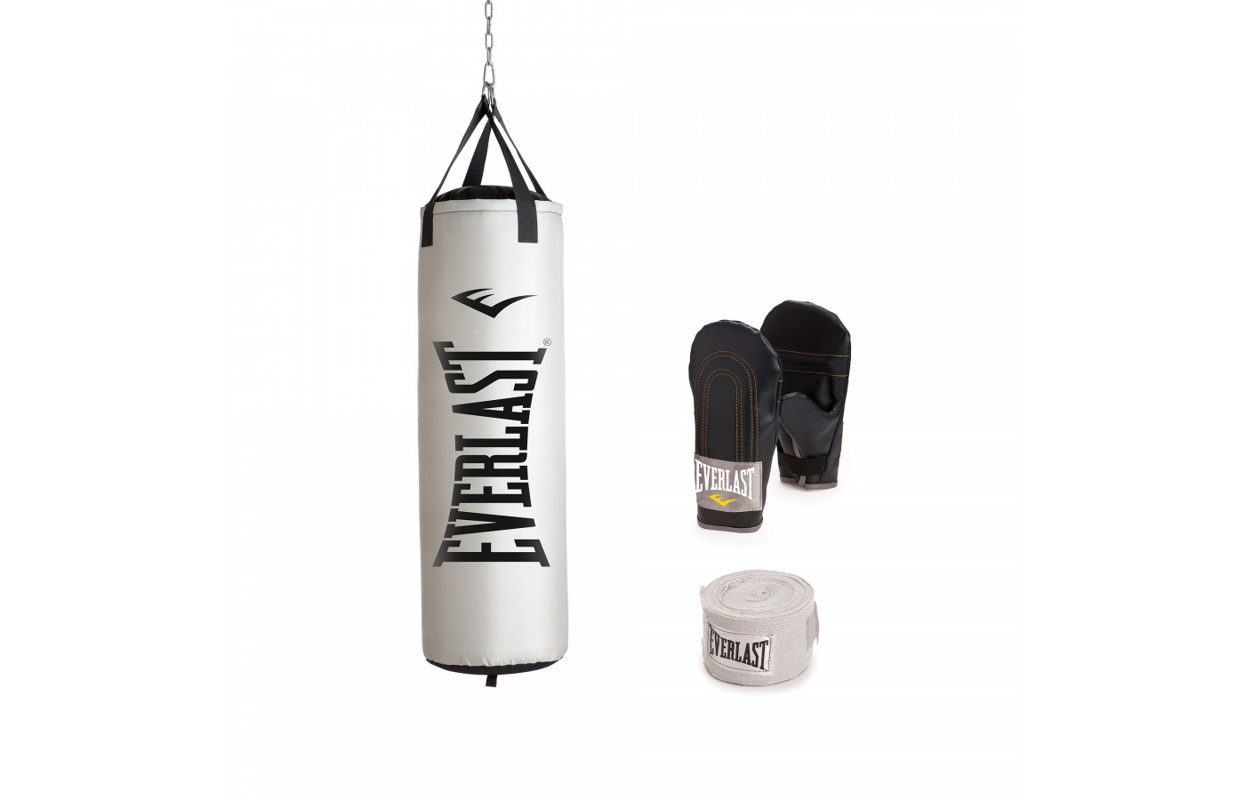 everlast heavy bag kit white