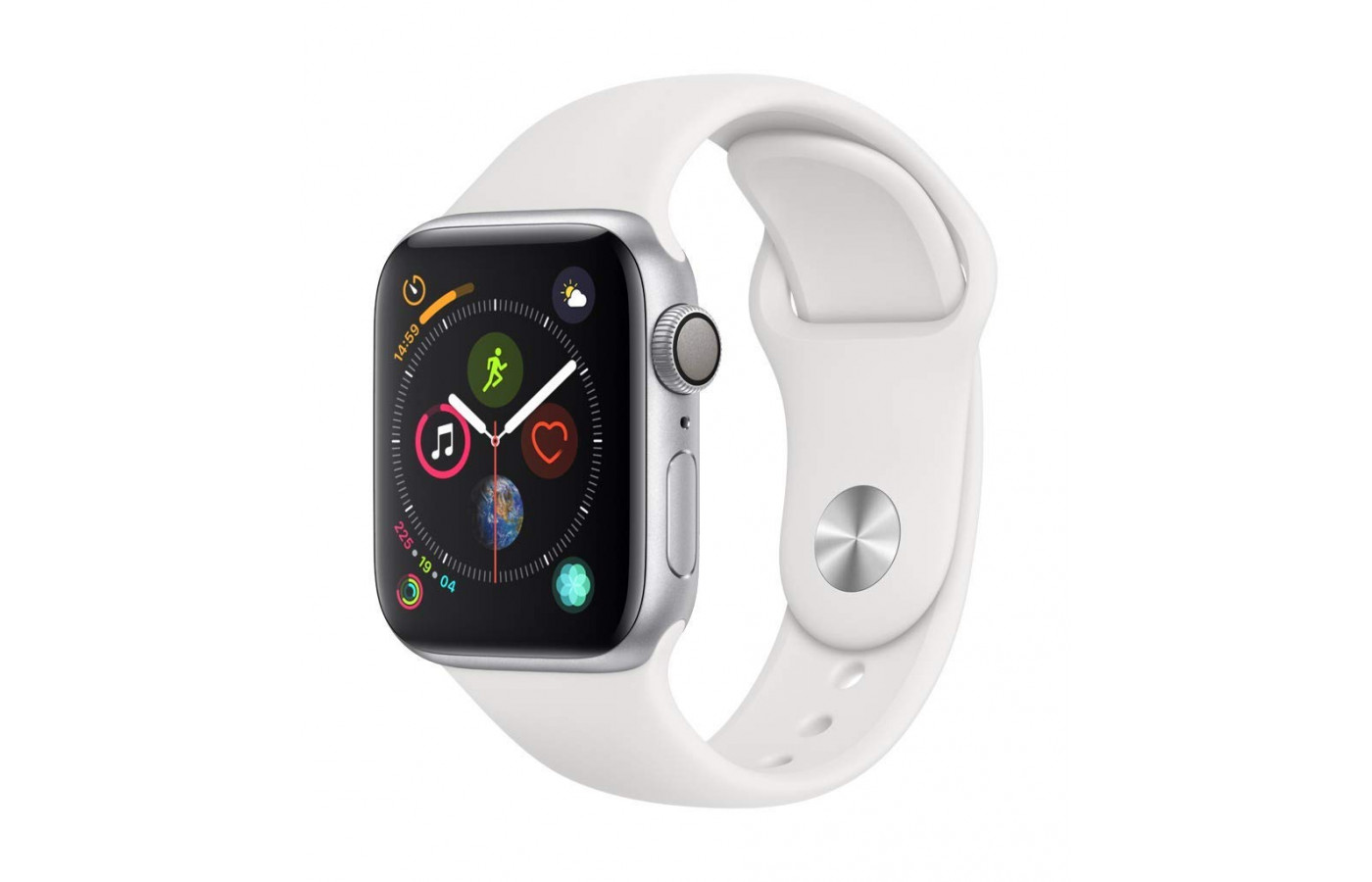 apple watch white side