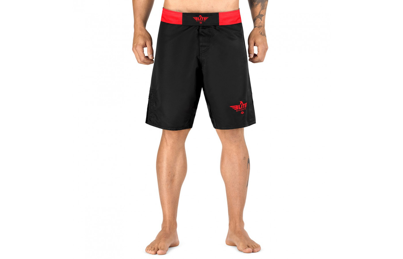 Elite Sports Trunks Front red