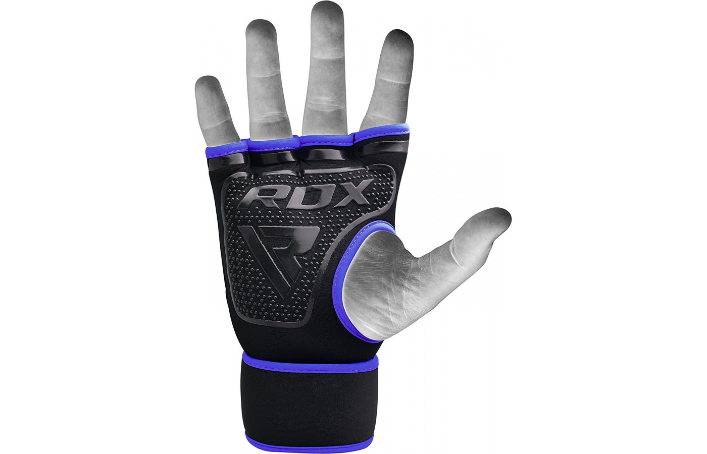 RDX hand wraps blue