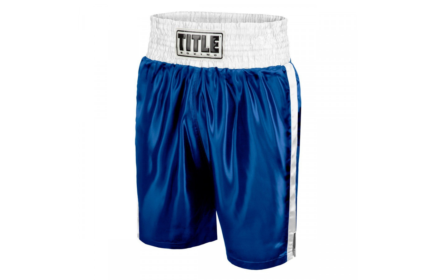 Title trunks blue and white