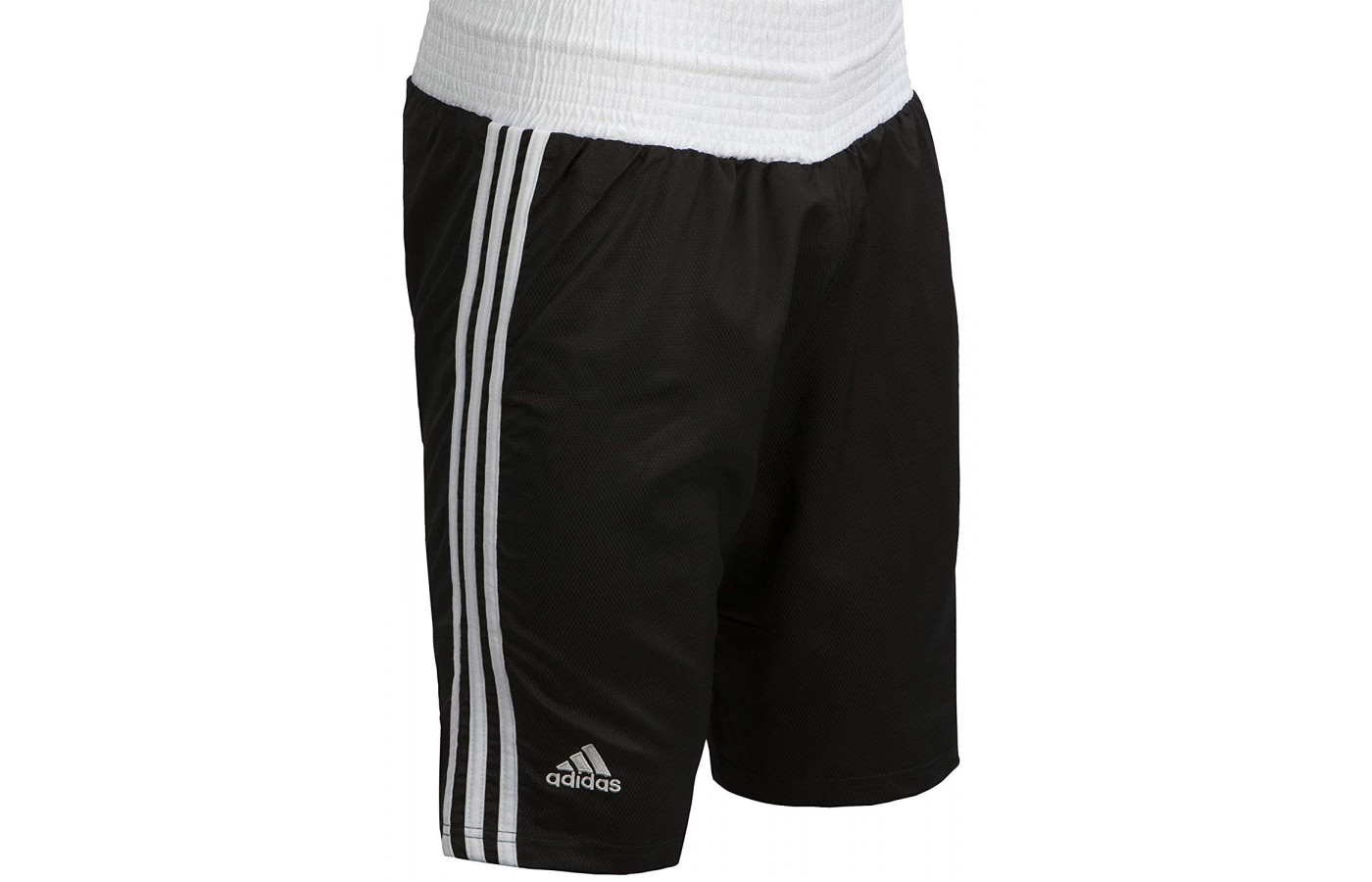 adidas boxing trunks black and white