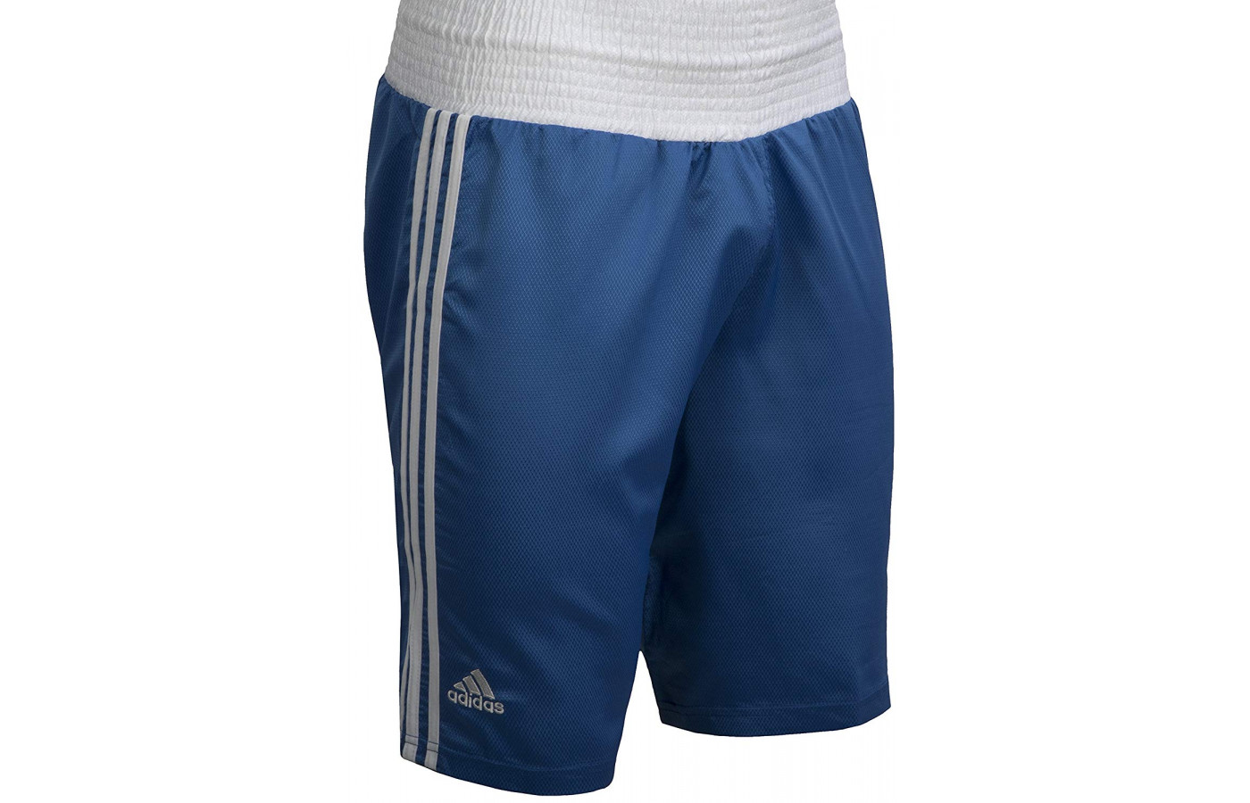 adidas boxing trunks dark blue and white