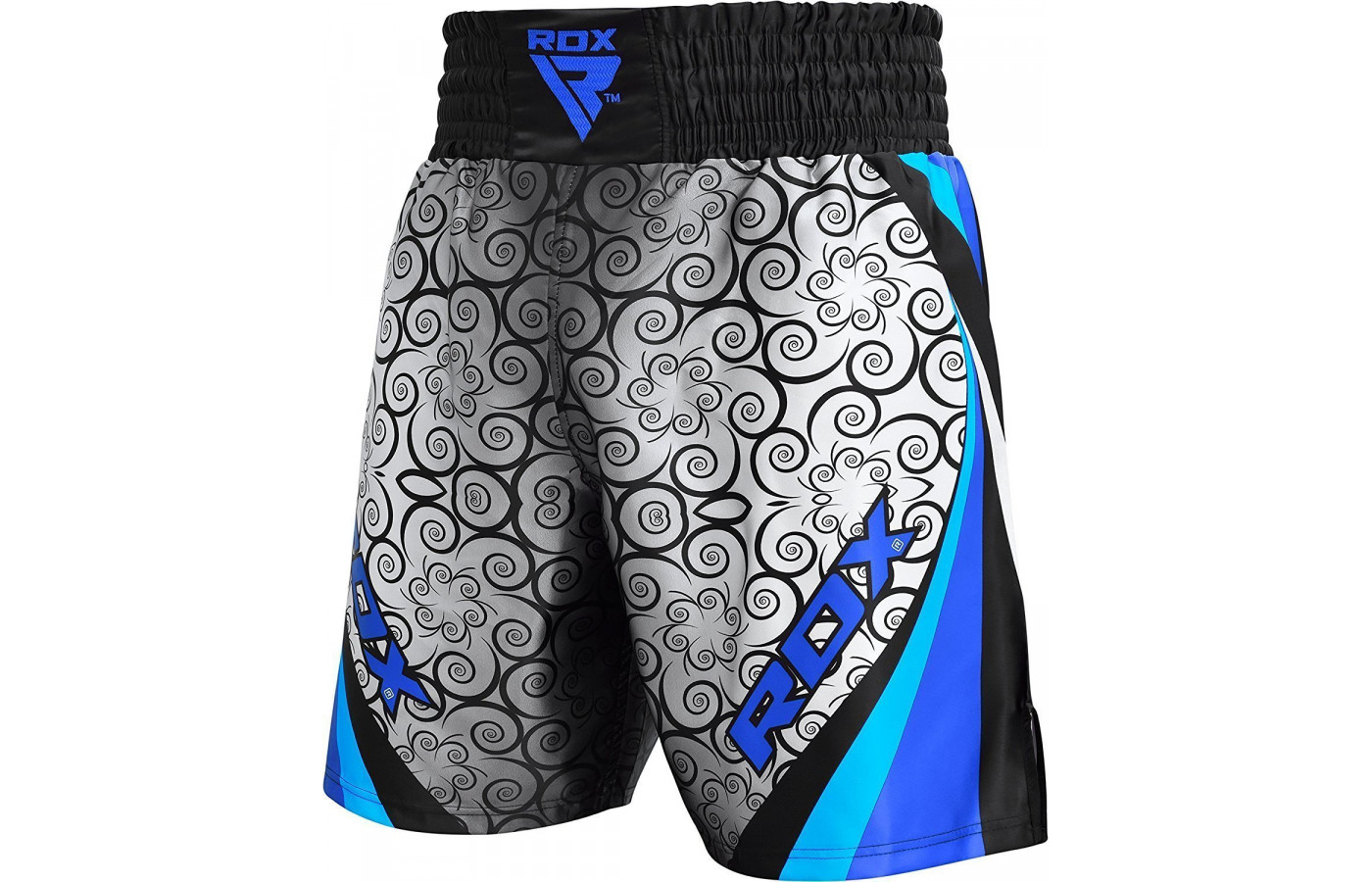 rdx fight shorts blue angle