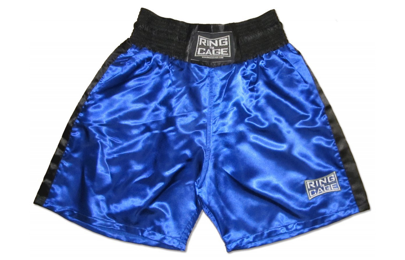 ring to cage boxing trunks blue