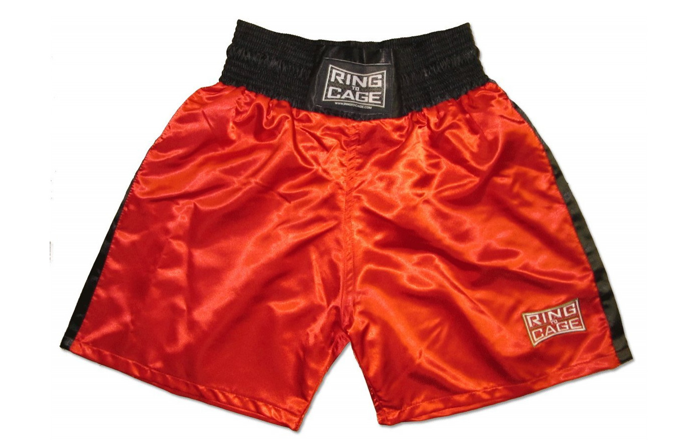 ring to cage boxing trunks red
