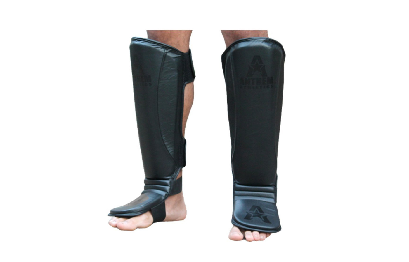 anthem athletics fortitude shin guards all black