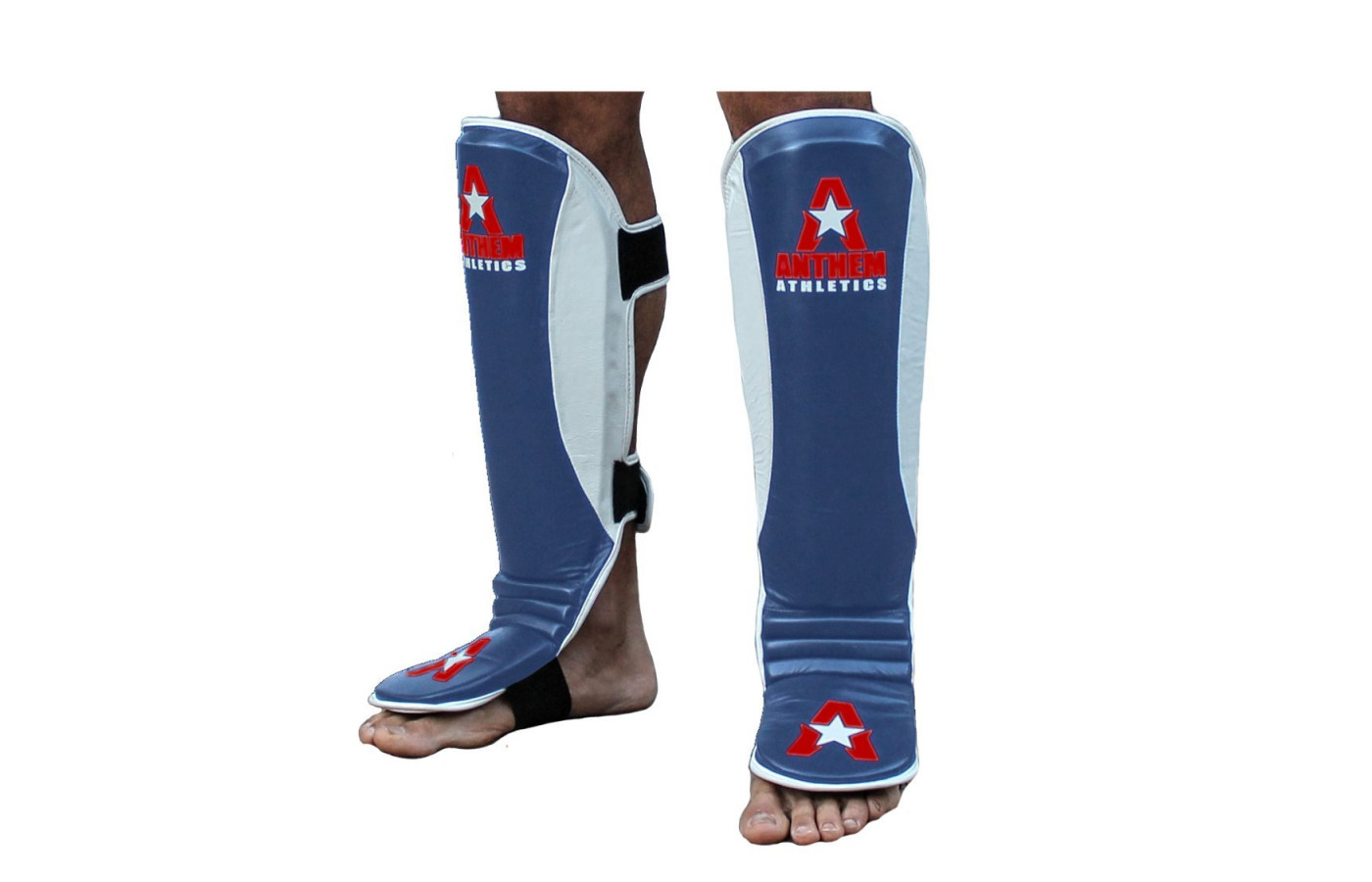 anthem athletics fortitude shin guards red white and blue