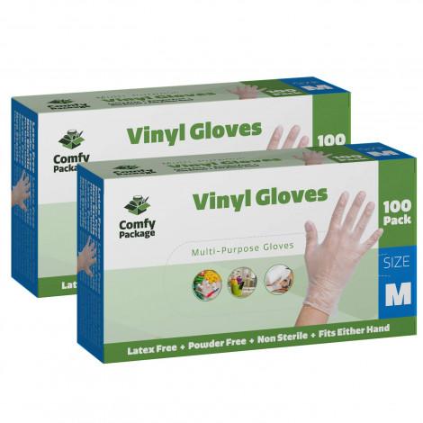 Comfy Package Latex free disposable gloves