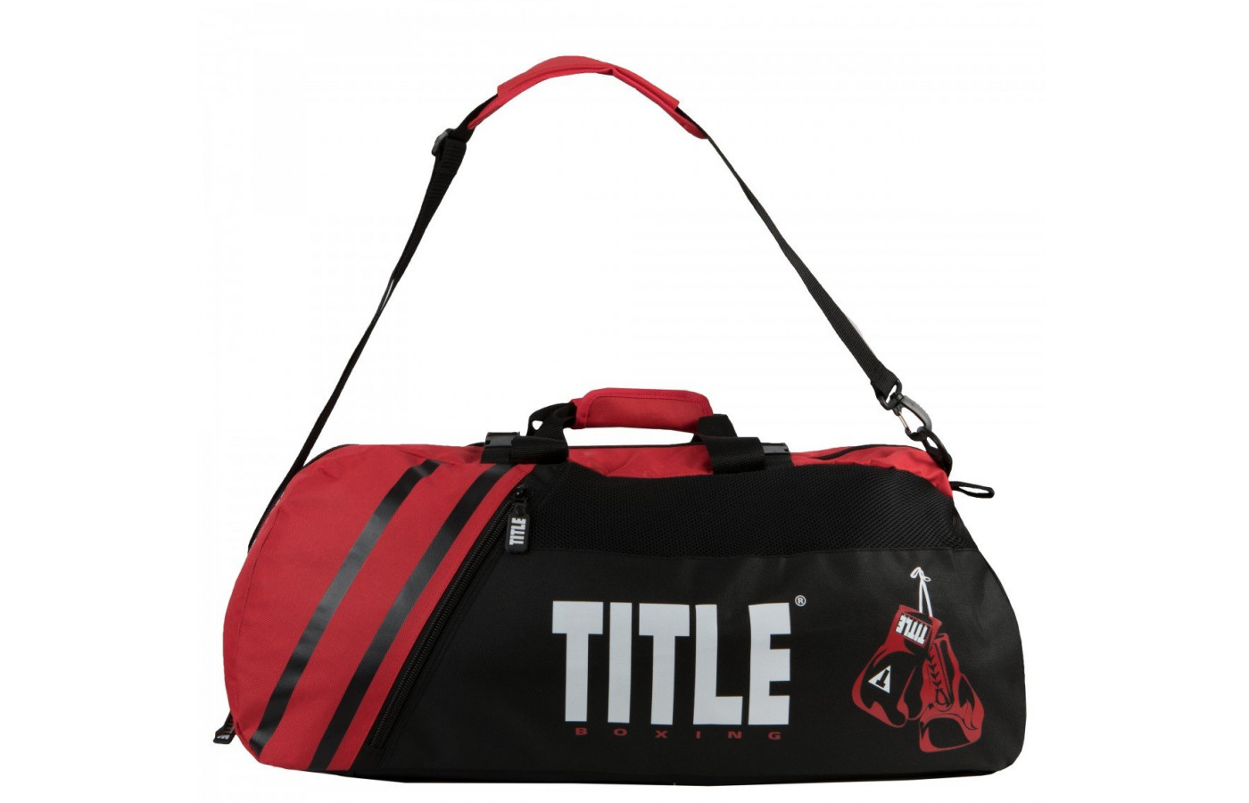 title world champion sport bag handle up