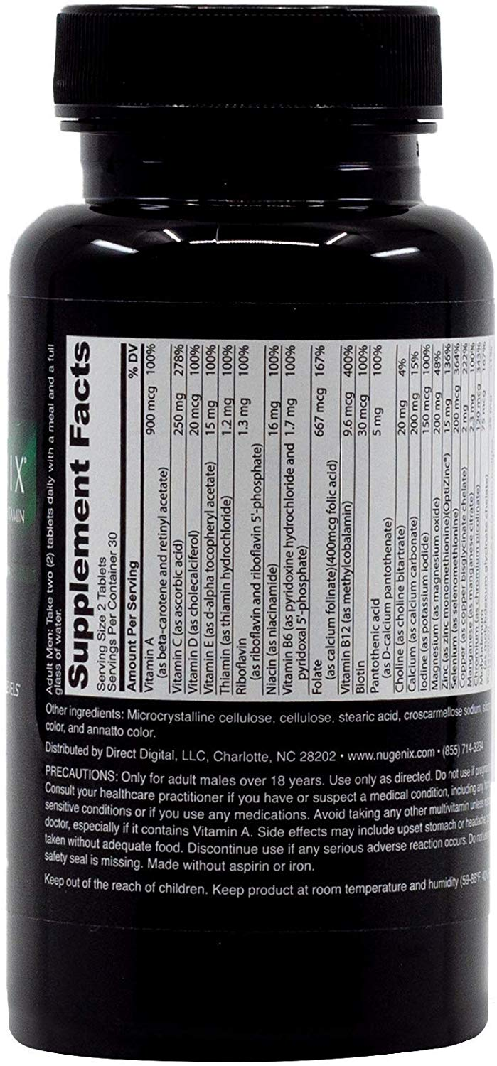 Nugenix Men's Daily Testosterone back 1