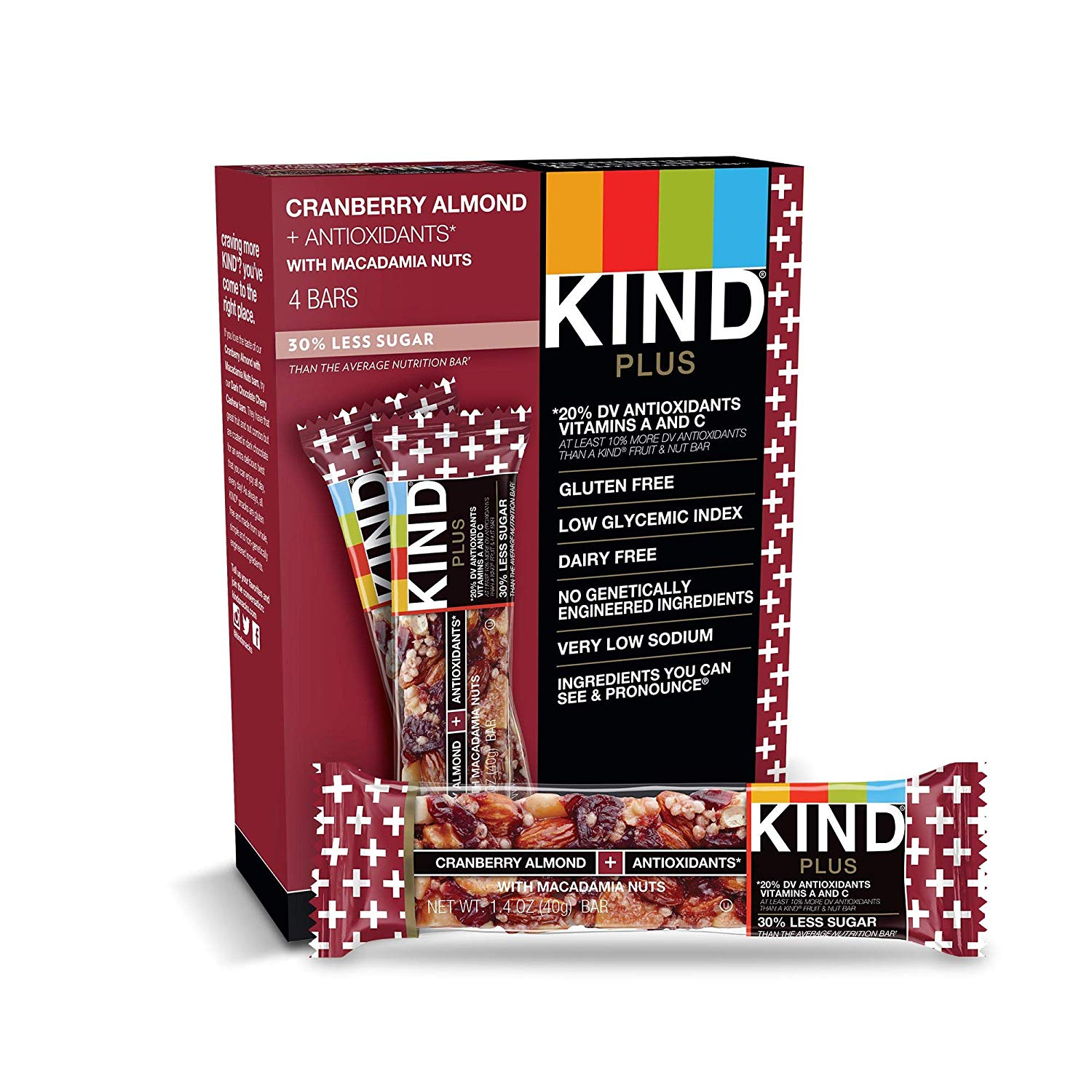 KIND Plus Nutrition Bars cranberry almond