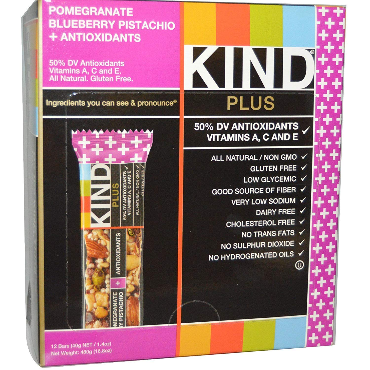 KIND Plus Nutrition Bars pom blueberry