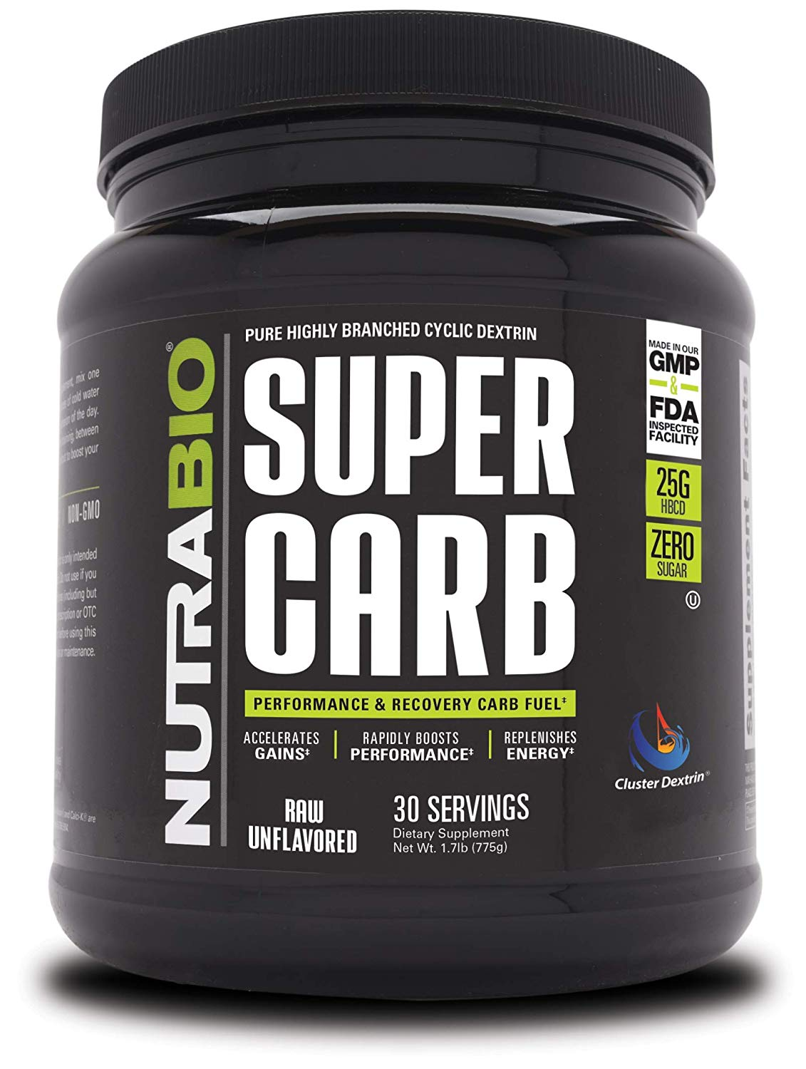 NutraBio Super Carb feature