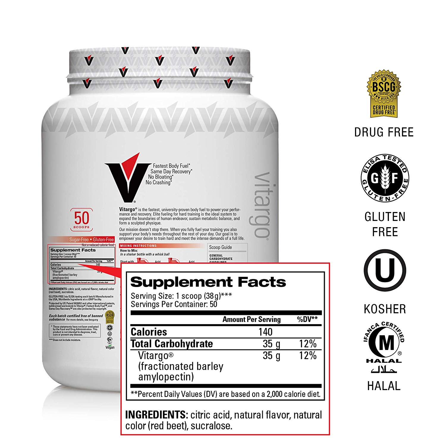 Vitargo Carbohydrate Powder back