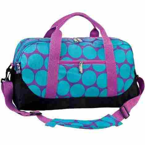 8. Wildkin Big Dots Aqua Overnighter Duffel Bag
