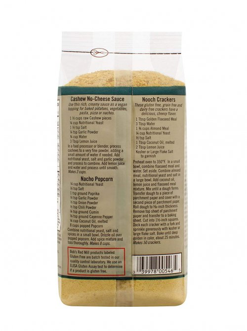 Bob's Red Mill  Nutritional Yeast Flakes Label