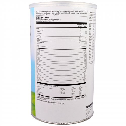 KAL Nutritional Yeast Flakes Label