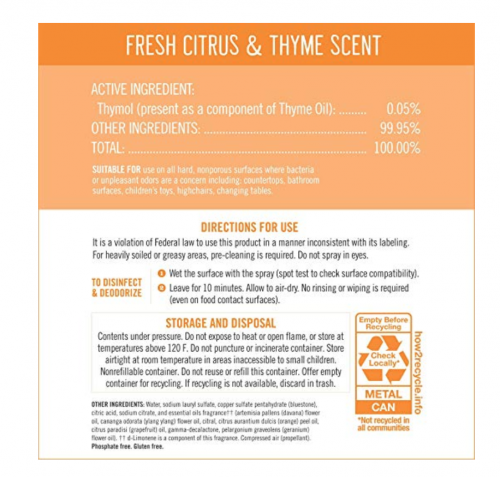 Seventh Generation Fresh Citrus and Thyme