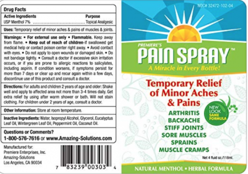 Premiere's Pain Spray Fighting Report
