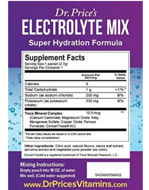 Dr. Price Electrolyte Mix Fighting Report
