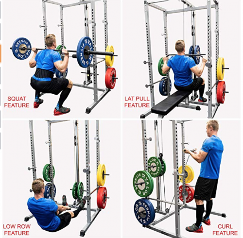 Valor Fitness BD-7 Power Rack with LAT Pull Attachment & Pull Up Station fighting report