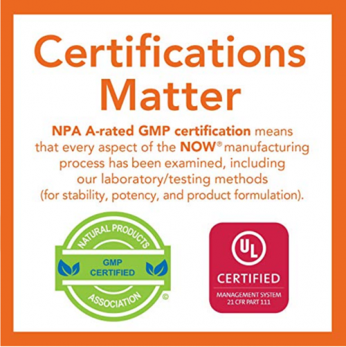 NOW Supplements Non-GMO Certification